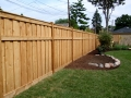 Pine timber fence